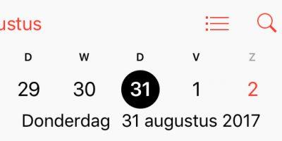 Maandoverzicht augustus