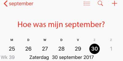 Terugblik maandoverzicht september 2017